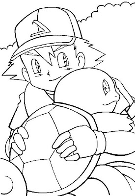 Pokemon Ash Ketchum Coloring Page