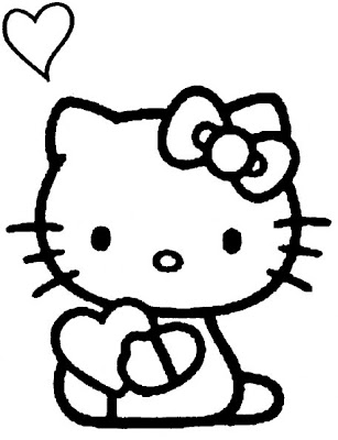 Here are some Hello Kitty Valentine cards and printable coloring sheets so