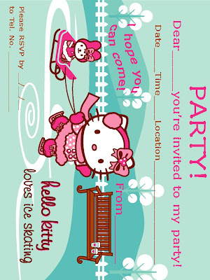 free hello kitty printable birthday invitation - home. life skills printable