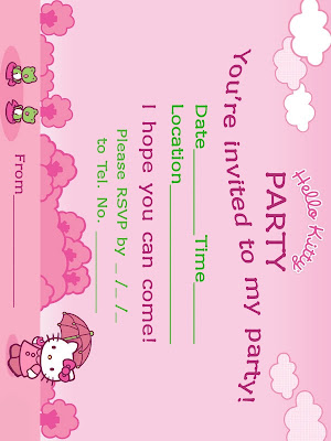 hello kitty invitations free. the free printable