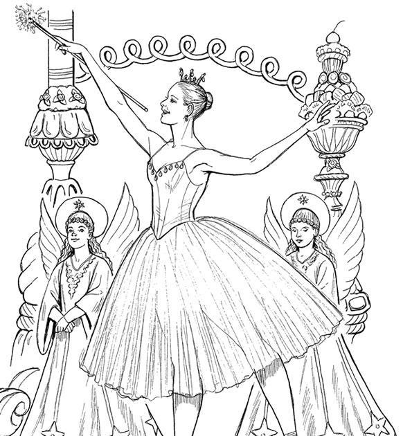 sugar plum fairies coloring pages - photo#6