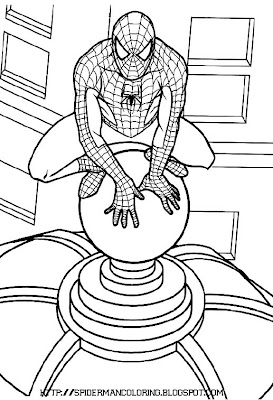 Spider Man Coloring Page