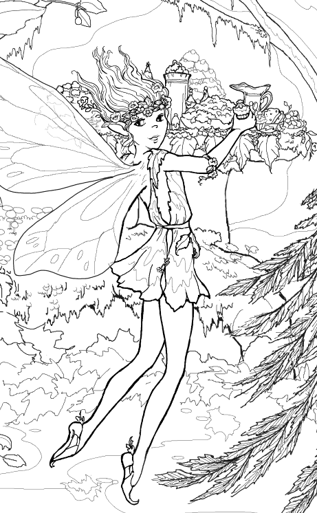 interactive magazine beautiful fairy coloring