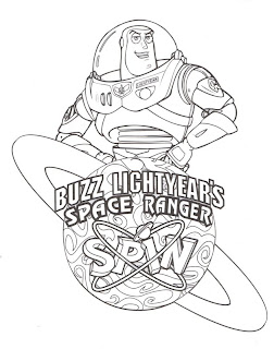 DISNEY COLORING PAGES BUZZ LIGHTYEAR COLORING PAGE