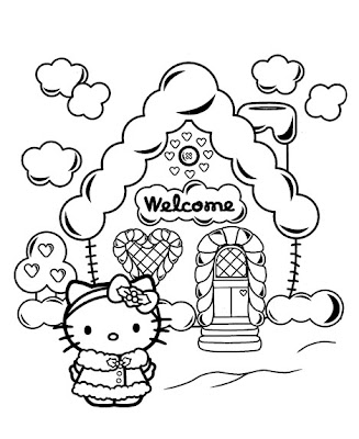 Kitty Coloring Sheets On And Here Are Some More Hello Christmas Holiday Pages