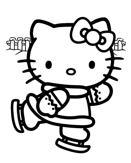 Here are more Happy Holidays Hello Kitty coloring sheets.