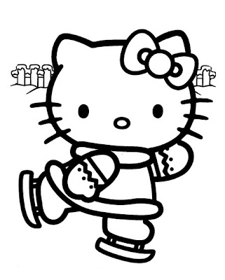 Ballerina coloring pages to print out for Hello kitty christmas coloring pages