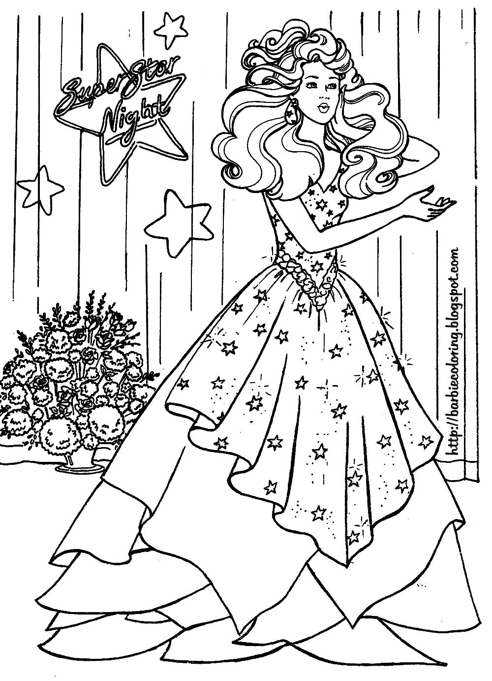 free barbie halloween coloring pages - photo#41