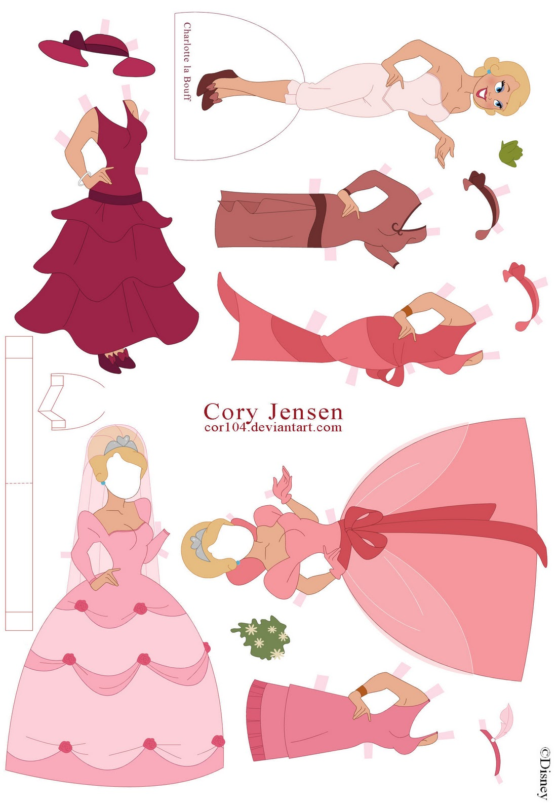 Interactive Magazine: CHARLOTTE PAPER DOLL FROM PRINCESS AND THE FROG