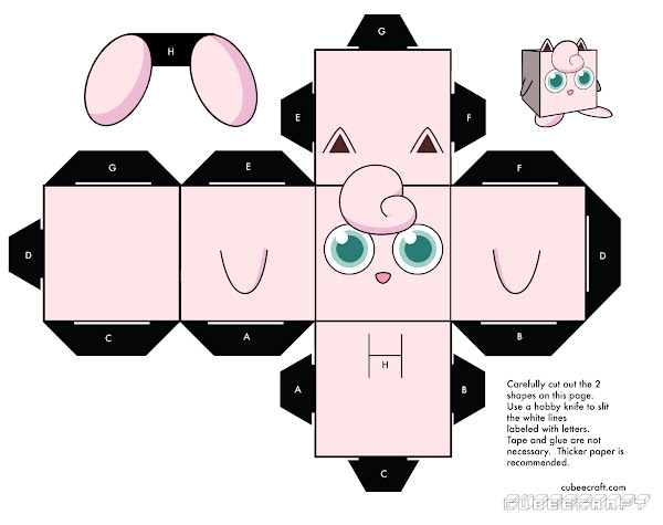 Printable Pokemon Paper Crafts