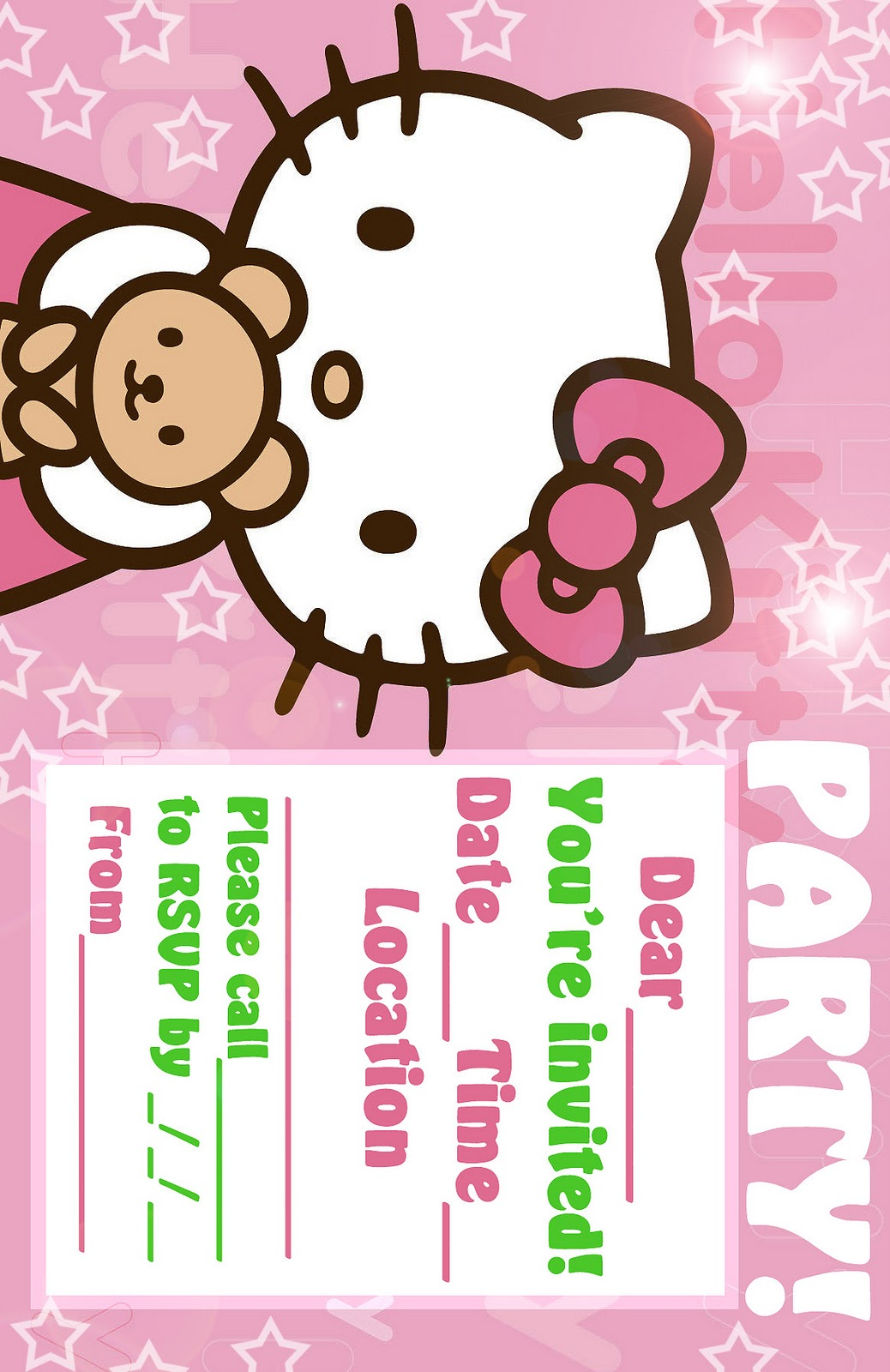 hello kitty coloring pages pink hello kitty invitation