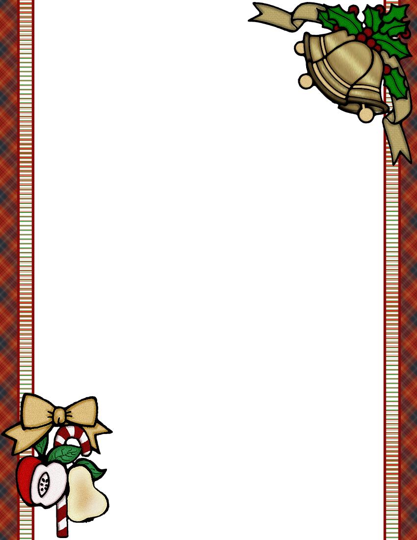 christmas letter border templates