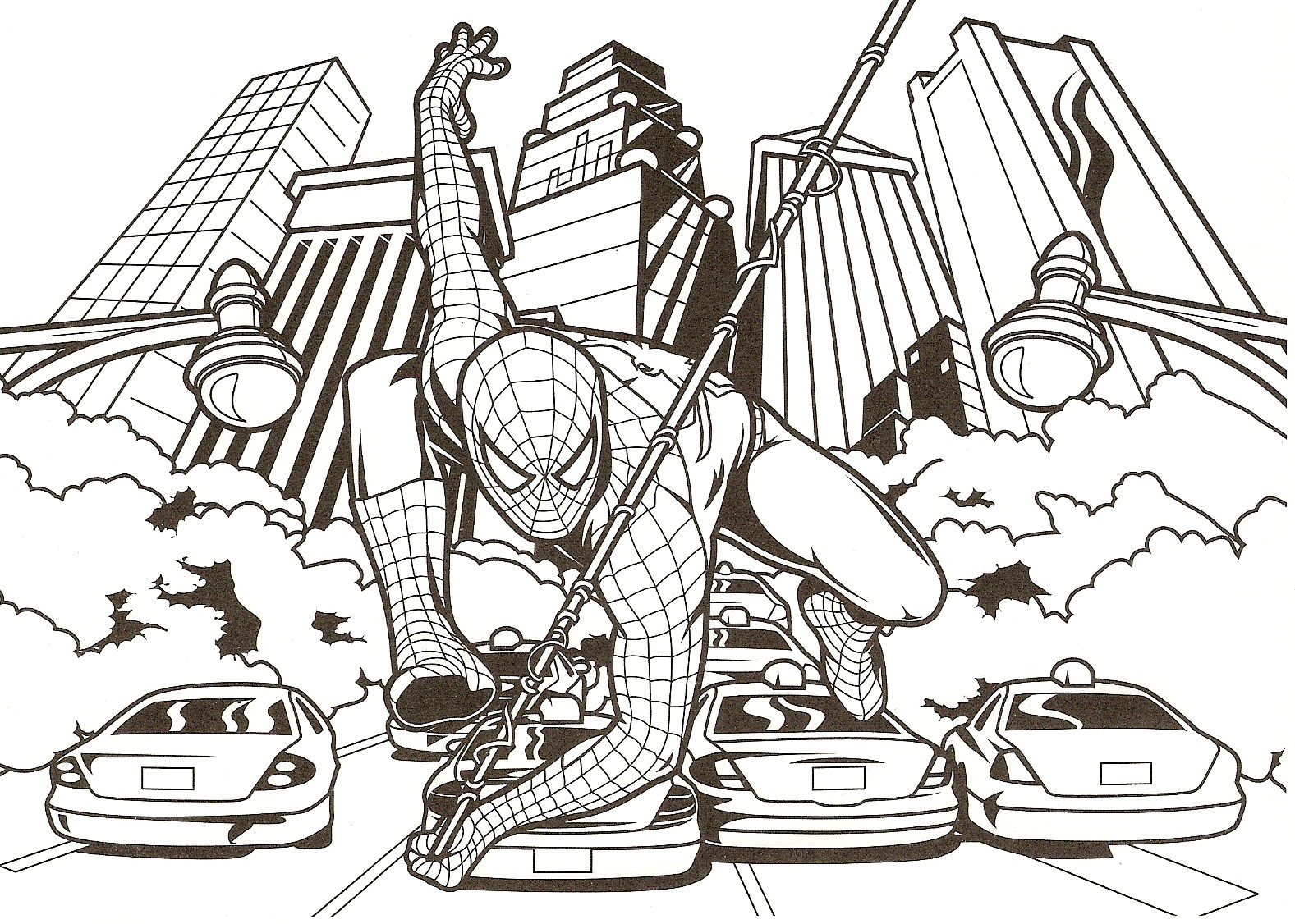 SPIDERMAN COLORING: PRINTABLE SPIDERMAN COLORING PICTURES