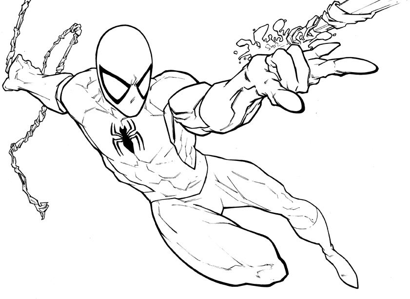 SPIDERMAN COLORING PRINTABLE