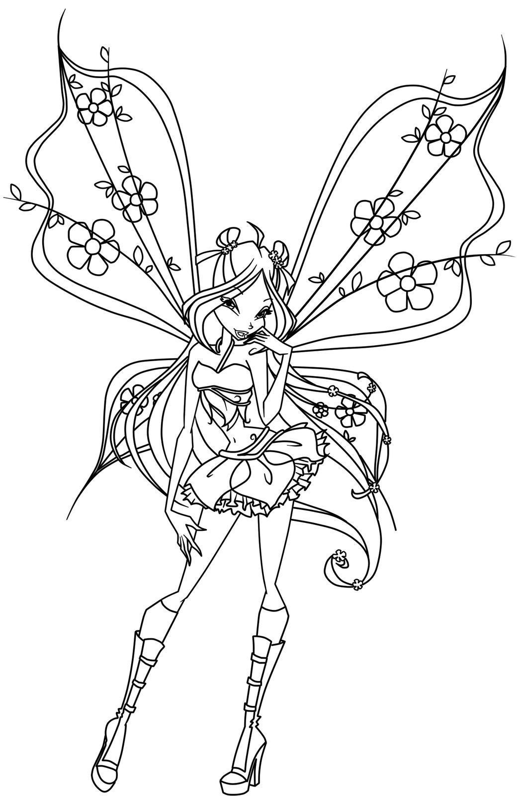 bratz fairy tale coloring pages - photo#21