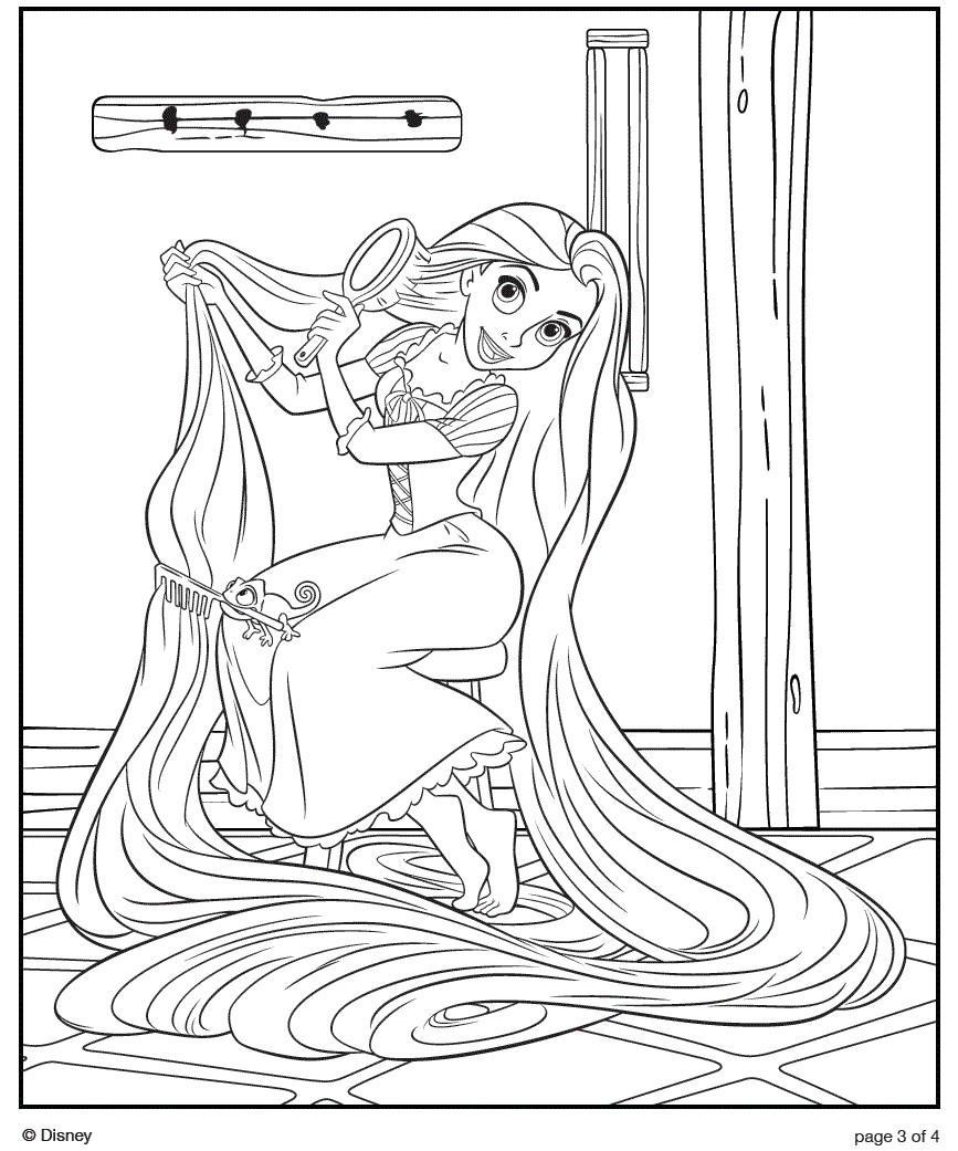 Disney coloring pages for Disney princess rapunzel coloring pages