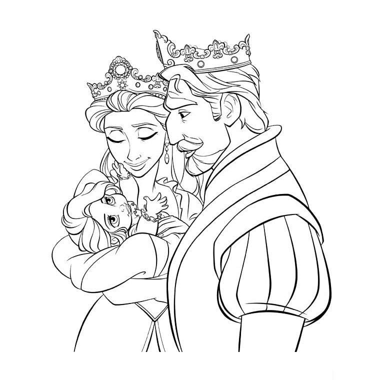 Princess Coloring Pages brings you two more Tangled coloring images  title=