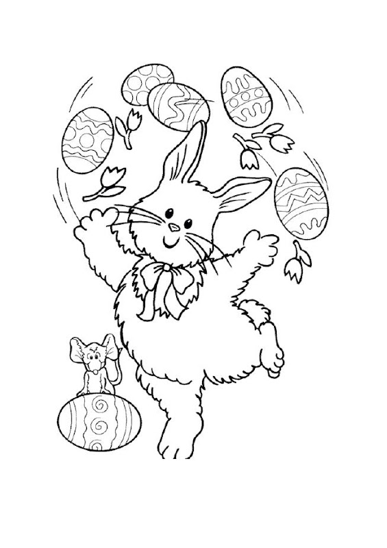 Can you spot the little mouse on this Easter colouring sheet? title=