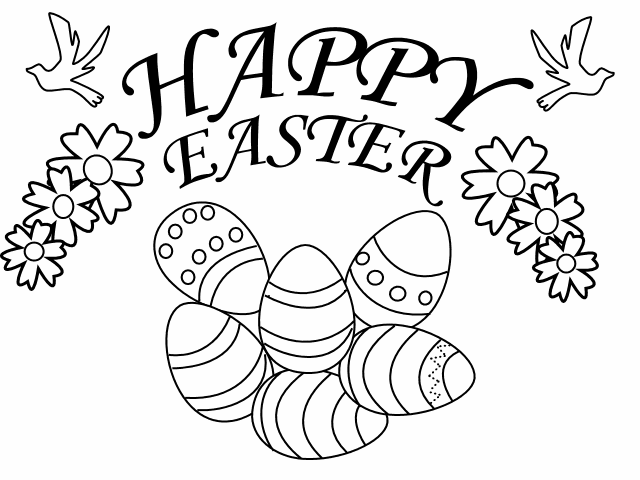 Printable Colouring In Pictures For Easter : EASTER COLOURING