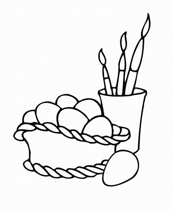 EASTER EGG COLORING PAGE title=