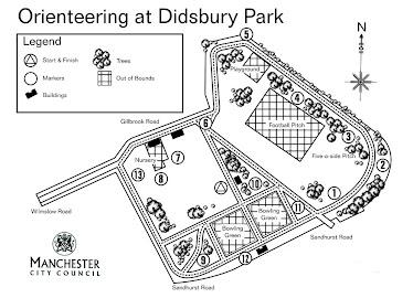 Orienteering Map, Didsbury Park