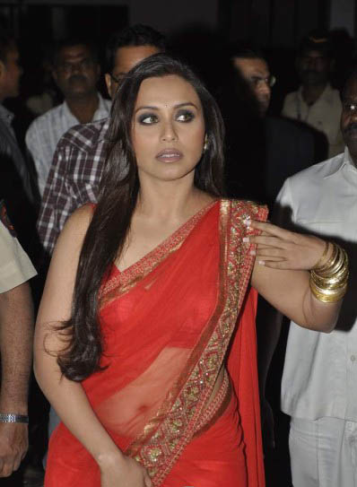Think, that Rani mukherjee hot transparent saree