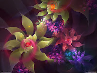 HD 3D Flowers Digital Desktop Wallpapers