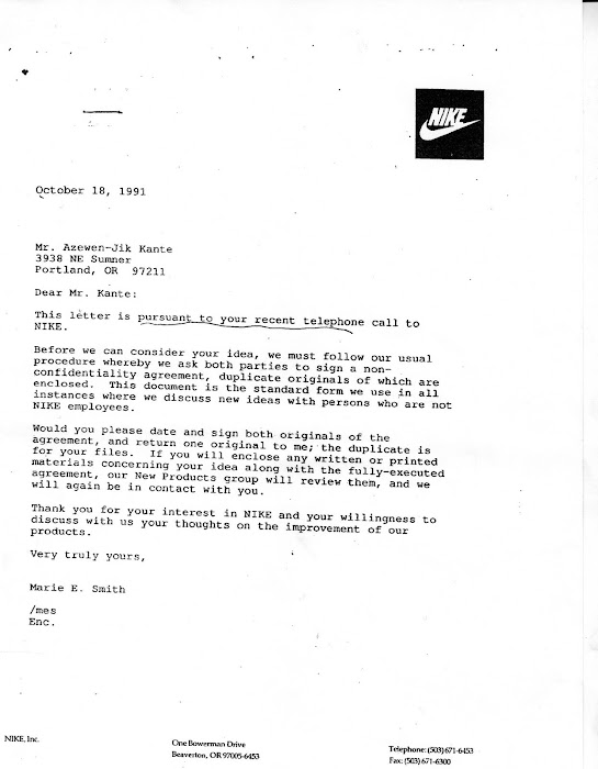 The Fraud of a 12 year old by NIKE INC