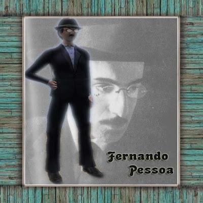 Avatar de Fernando Pessoa no Second Life