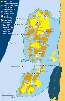 Palestinian cantons Oslo Accords