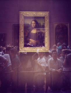 Wallies looking at the Mona Lisa