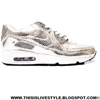 Nike Air Max 90 Silver Snakeskin Limited Edition   Rare Air L.imited  L.iability C.ompany.