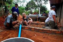CAMBODIA: Building the Latrine