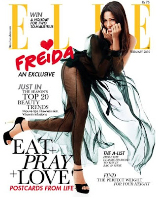 Freida Pinto Hot on Elle Magazine Photoshoot