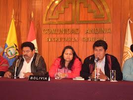 REPRESENTANTES DE MOVIMIENTOS INDIGENAS DE BOLIVIA