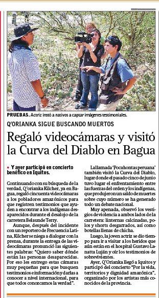 Q'ORIANKA EN BAGUA, AMAZONAS 2009