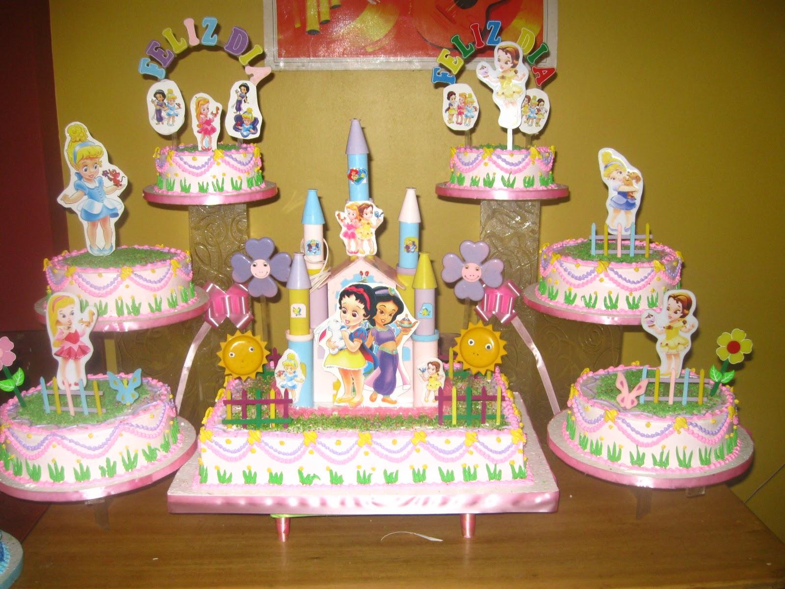 TORTAS DE ROSITA: Tortas Princesas Baby