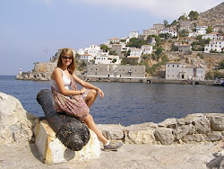 My daughter Amber in Greece