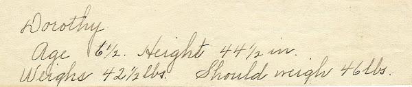 Bess' handwriting