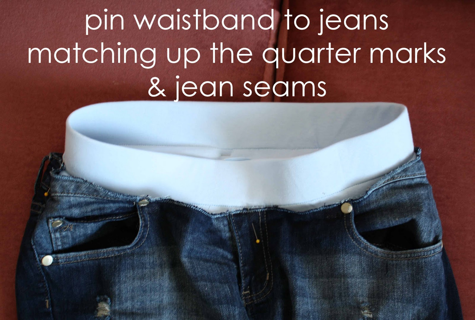 Running With Scissors: How To Add Maternity Band to Jeans