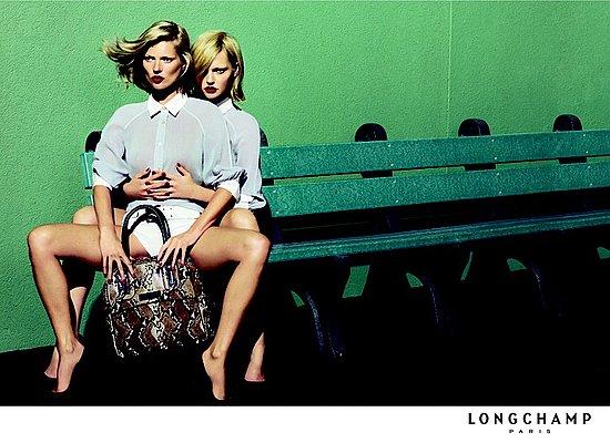 Longchamp Spring 09 Kate Moss Sasha Pivovarova