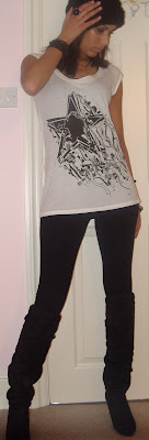 kate moss for topshop tee leggings