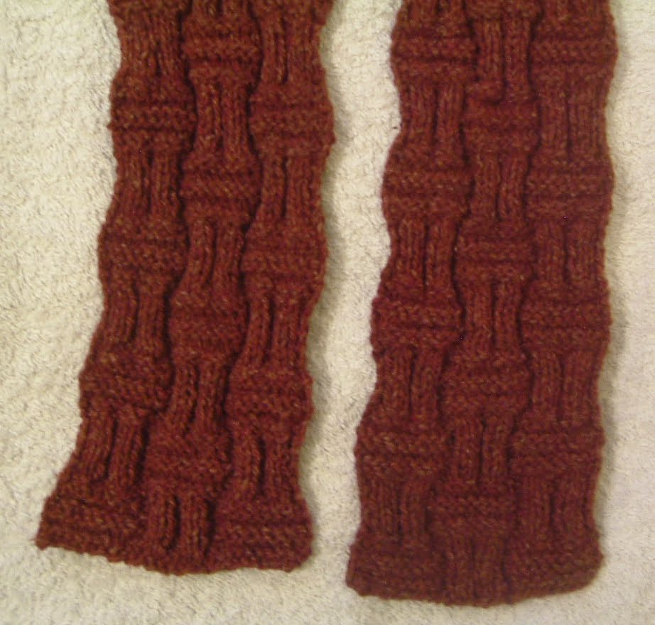 Knitting Basket Weave : Basketweave scarf pattern collections