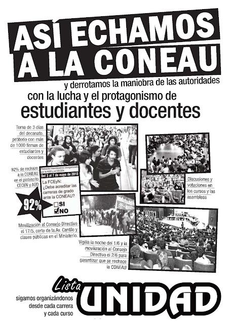 ASÍ ECHARON A LA CONEAU DE EXACTAS
