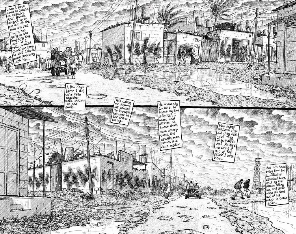 Palestina: en la franja de Gaza - Joe Sacco 100+....Joe+Sacco,+Palestine+f