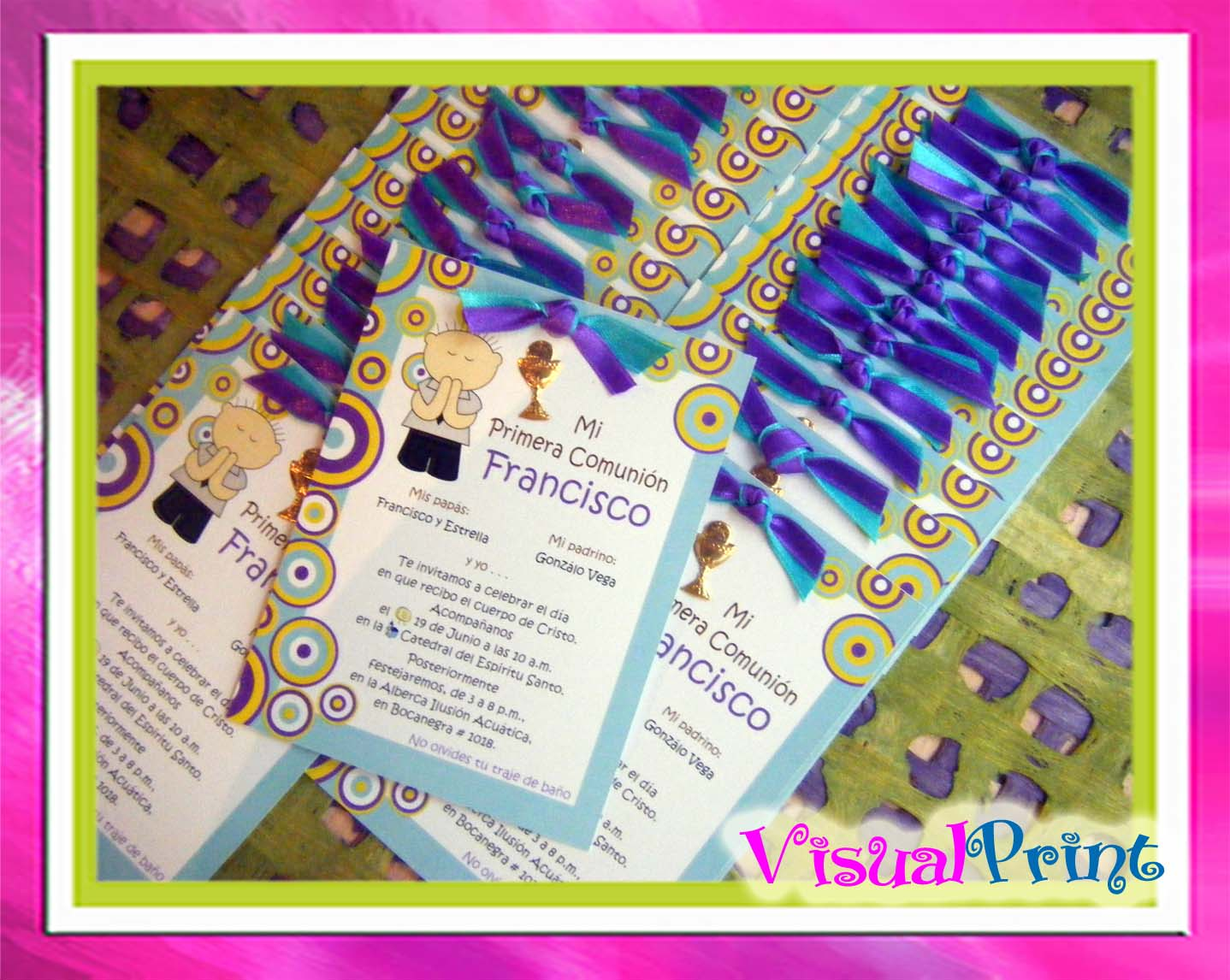 Invitaciones para primera comunion- La Belle Carte