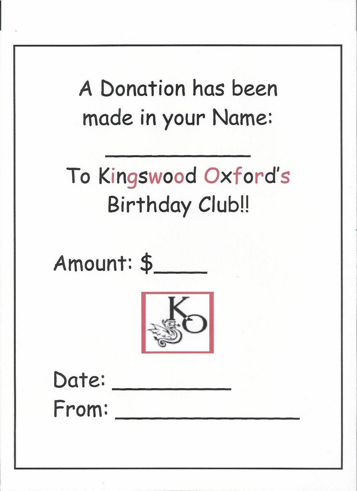 My Sister And I Thought We Could Help Raise Money For The Hartford School Kids By Donating To Birthday Club As Part Of A Friends Gift