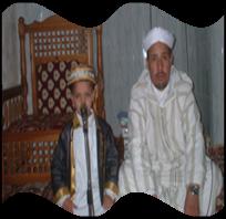 محمد اسلام شاشي مع امام مسجد العتيق بأفلو سي  بلقاسم  بلقاسمي