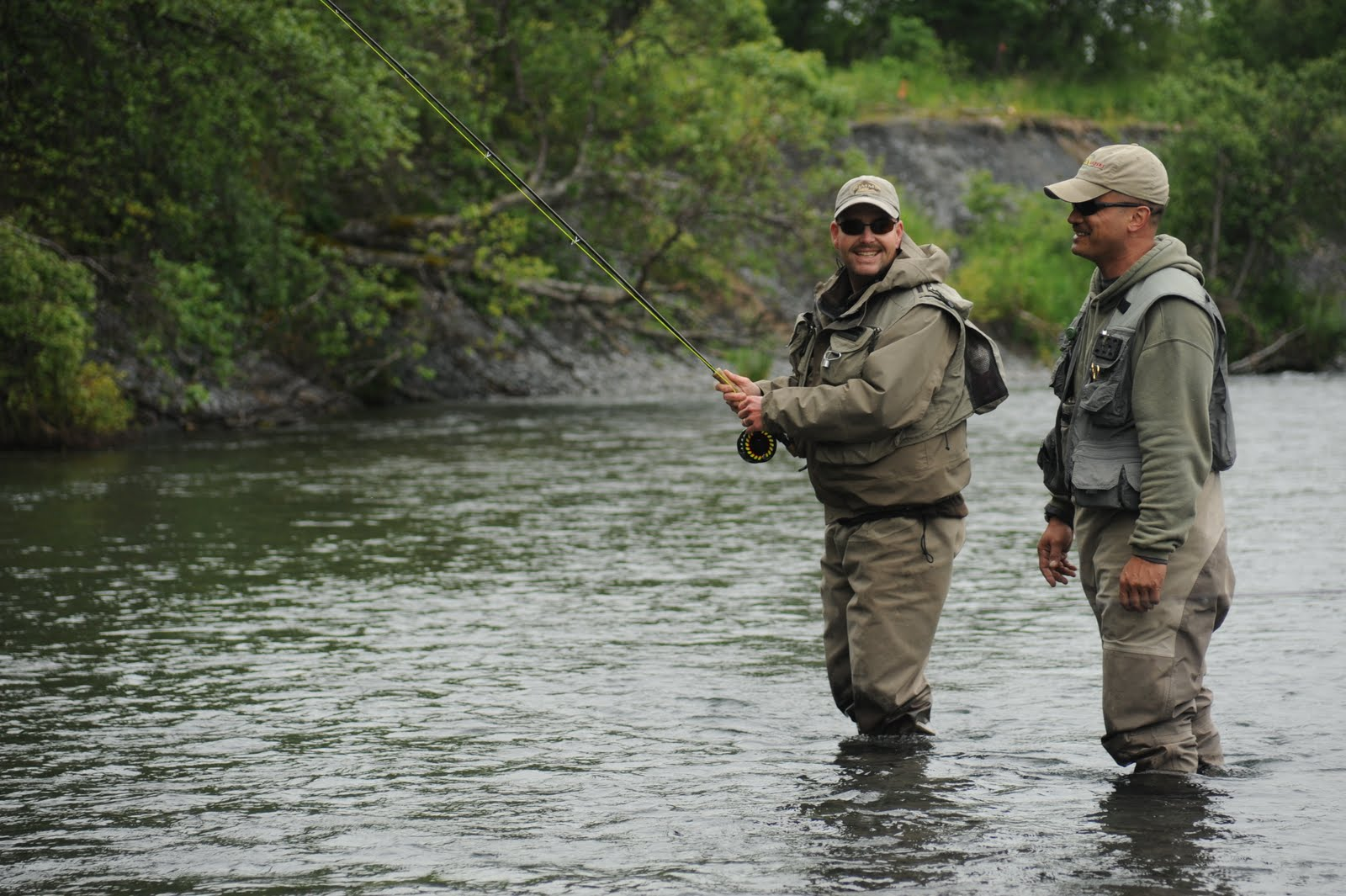 Fly fishing in kodiak with project healing waters coast for Healing waters fly fishing