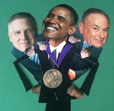 obama, oreilly, beck, nobel peace prize, jibjab